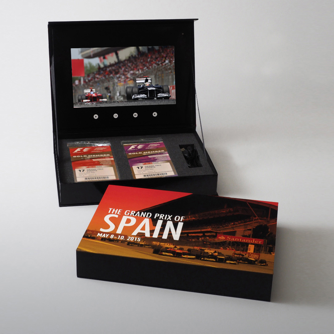 Video Brochure Direct - Spain Grand Prix Presentation Box